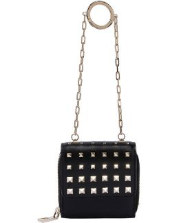 Micro Studded Leather Clutch