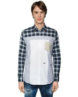 Patchwork Cotton Poplin Shirt