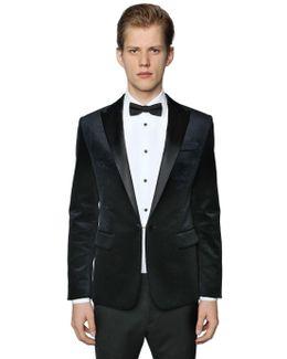 Beverly Cotton Velvet Tuxedo Jacket