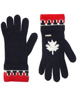 Wool & Alpaca Blend Knit Gloves