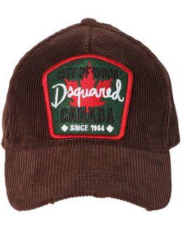 Canada Patch Corduroy Baseball Hat