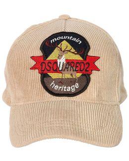 Deer Patch Corduroy Baseball Hat