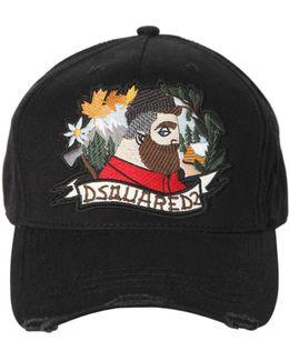 Lumberjack Patch Canvas Baseball Hat