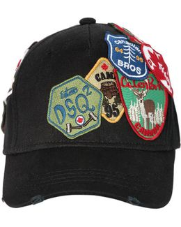 Patches Canvas Baseball Hat