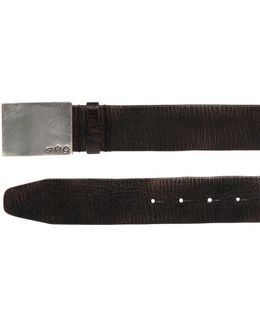 40mm Crackled Leather Belt