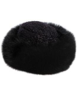 Mohair Blend Bouclé & Fox Fur Hat