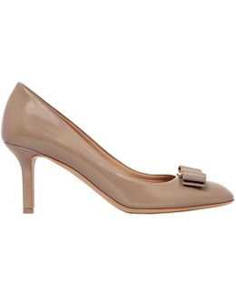70mm Erice Brushed Leather Pumps