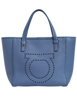 Small Marta Gancio Leather Tote Bag