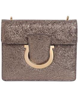 Thalia Metallic Leather Shoulder Bag