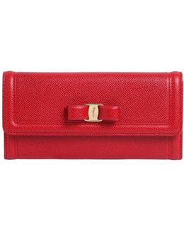 Continental Embossed Leather Wallet