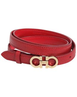 15mm Embossed Leather Belt