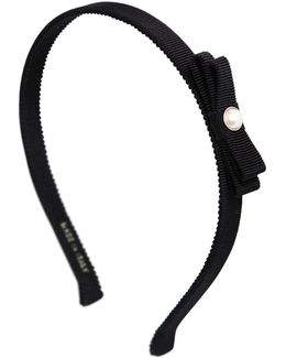 Grosgrain Pearl Bow Headband