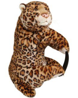 Leopard Shaped Plush Backpack