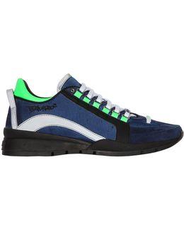 551 High Nylon & Nubuck Leather Sneakers