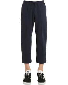 Cropped Sweatpants With Pintucks