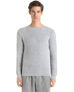 Cashmere Knit Boat Neck Sweater