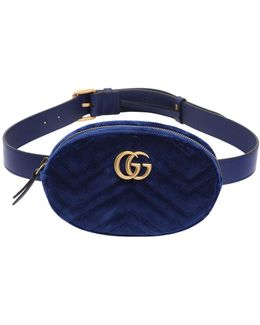 Small Gg Marmont Velvet Belt Pack