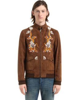 Dragoon Embroidery Suede Jacket