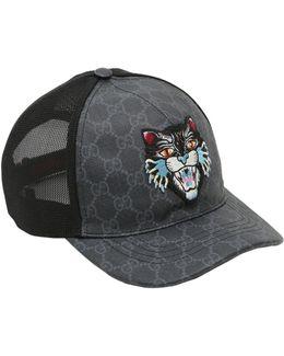 Coated Original Gg Cat Patch Trucker Hat