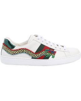 New Ace Dragon Leather Sneakers