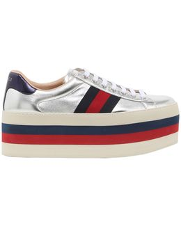 80mm New Ace Leather Platform Sneakers