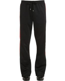 25cm Web Stripes Jersey Track Pants