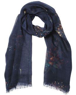Fireworks Cashmere, Silk & Wool Scarf