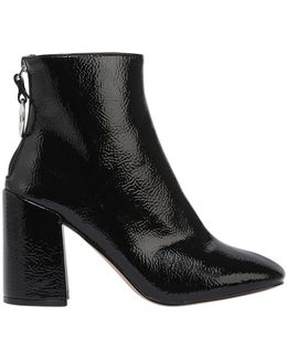 90mm Posed Faux Leather Boots