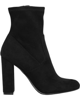 100mm Edith Microfiber Ankle Boots