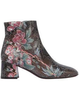 50mm Printed Embossed Leather Boots