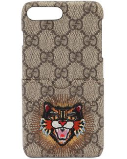 Angry Cat Patch Iphone 7 Plus Case