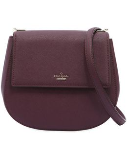 Byrdie Saffiano Leather Shoulder Bag