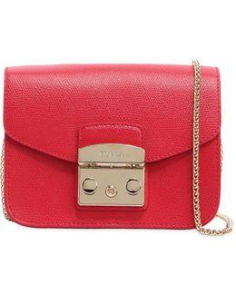 Mini Metropolis Saffiano Leather Bag
