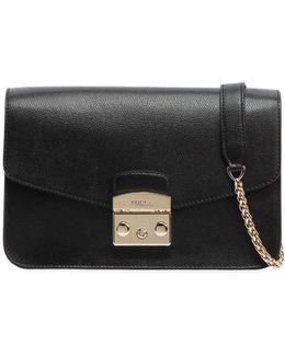 Small Metropolis Saffiano Leather Bag