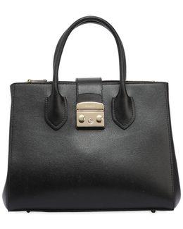Metropolis Saffiano Leather Tote Bag