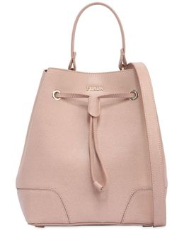 Stacy Saffiano Leather Bucket Bag