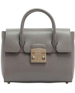 Small Metropolis Leather Tote Bag