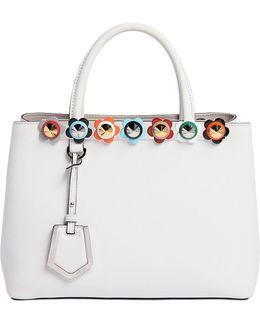 Small 2jours Flower Appliqué Leather Bag