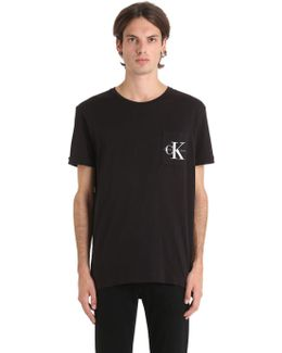 Cotton Jersey T-shirt W/ Logo Pocket