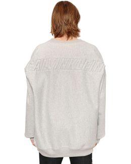 Oversized Embroidered Cotton Sweatshirt