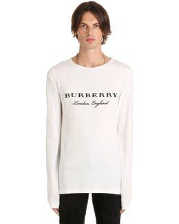 Logo Cotton Jersey Long Sleeve T-shirt