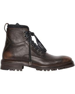 33mm Tumbled Vintage Leather Boots