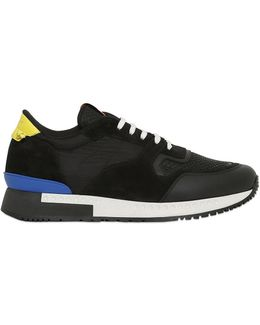 Leather, Suede & Mesh Sneakers