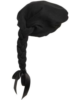 Wool Felt Beret W/ Braid