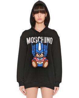 Oversized Embroidered Jersey Sweatshirt