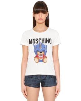 Transformer Bear Printed Jersey T-shirt