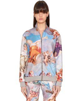 Fresco Printed Cotton Jersey Sweatshirt