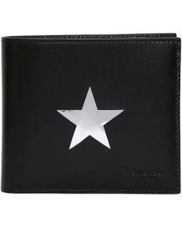 Metallic Stars Leather Classic Wallet