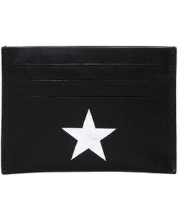 Metallic Stars Leather Card Holder