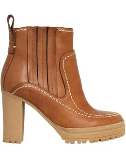 100mm Leather Boots